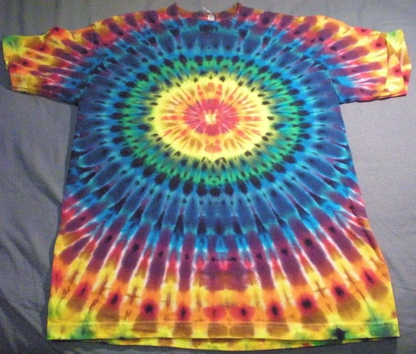 New tie dye medium aaa alstyle tshirt pleated circular for Tie dye t shirt patterns