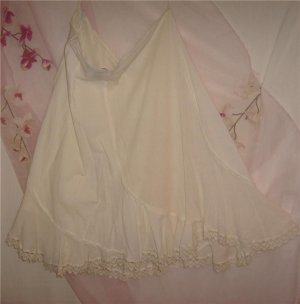 3X-22-24 SEXY& Romantic Cream LACE Embroidery skirt NWT