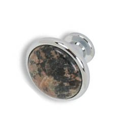 Cabinet knobs-chrome finished-Baltic Brown