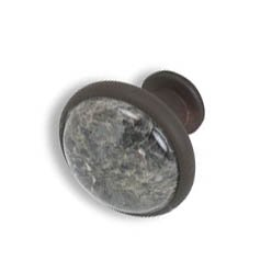Cabinet knobs-Rustic Bronze- Ice Flower Blue