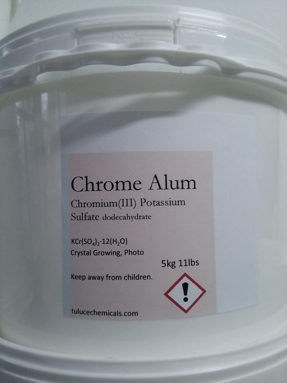 5kg Chromium(III) potassium sulfate Chrome Alum Crystal Growing Photography 11lb