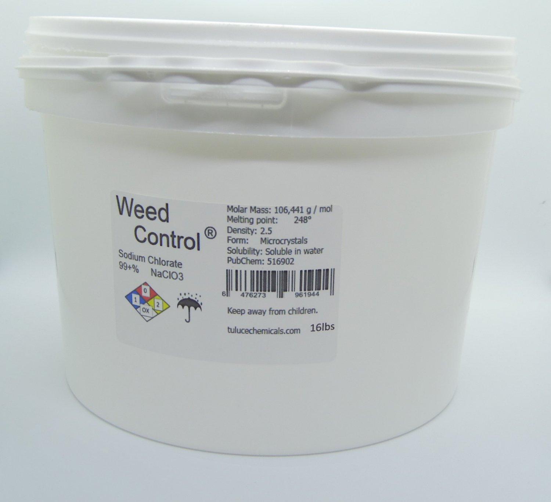 Sodium Chlorate (NaClO3) 99%min Herbicide Organic Weedkiller 16 lbs (7,2 Kg)