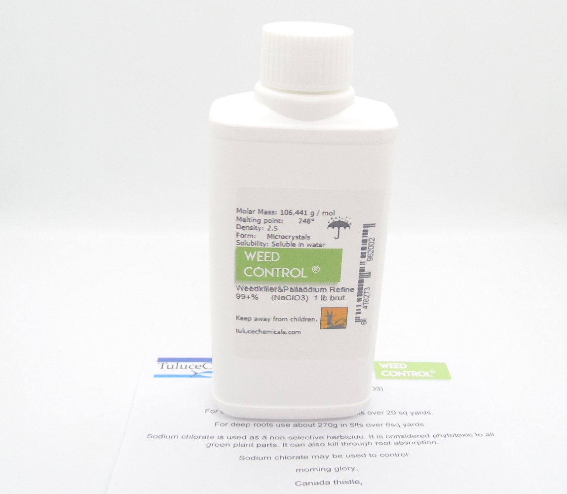 Sodium Chlorate (NaClO3) 99%min Herbicide Organic Weedkiller 1 lb
