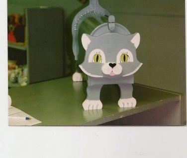 Handmade custom painted, functional, cat mailbox