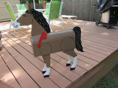 Large Handmade custom painted, functional horse mailbox