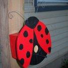 Handmade Custom Wooden Functional Ladybug Birdhouse
