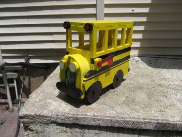 Handmade custom painted, functional,School Bus mailbox