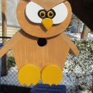 Handmade Custom Wooden Functional Owl Birdhouse
