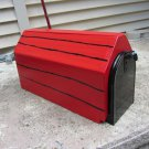 Handmade custom designed dog house mailbox