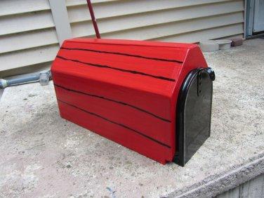 Handmade custom designed dog house mailbox