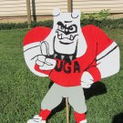 Handmade custom painted wooden University of GA mascot