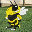 Handmade custom painted wooden GA Tech Yellow Jacket mascot for your yard