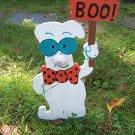 Handmade Halloween Smart ghost with boo sign