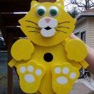 Handmade Custom Wooden Functional Kitty Cat Birdhouse
