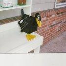 Handmade Custom Wooden Functional Crow Birdhouse