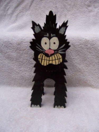 "Handmade Halloween 3 Dimensional ""Scary Black Cat"""