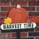 Handmade painted Harvest Time yard stake