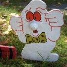 Handmade Halloween Ghost with dynomite yard stake