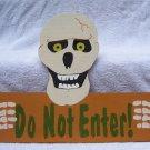 Handmade Wooden Skeleton Do Not Enter Halloween yard stake