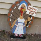 Handmade Custom painted Tillie the Turkey for your yard