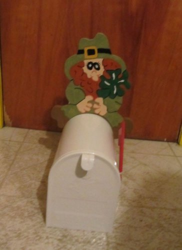 Handmade Wooden St Patrick's Day Leprechaun Greeter for your mailbox