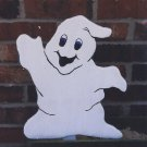 Handmade painted Happy Casper Ghost Halloween yard stake