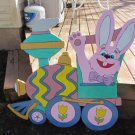 Handmade painted Easter Train Engine