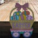 Handmade painted Easter Train Easter basket car