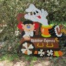 Handmade painted Monster Express Halloween Train Engine