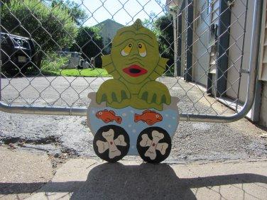Handmade painted Monster Express Halloween Monster train car