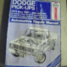 haynes   912   dodge  pick  ups