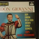 Mozart - Don Giovanni Highlights -Krips Vienna Philharmonic ,Seipi [Vynl]LP