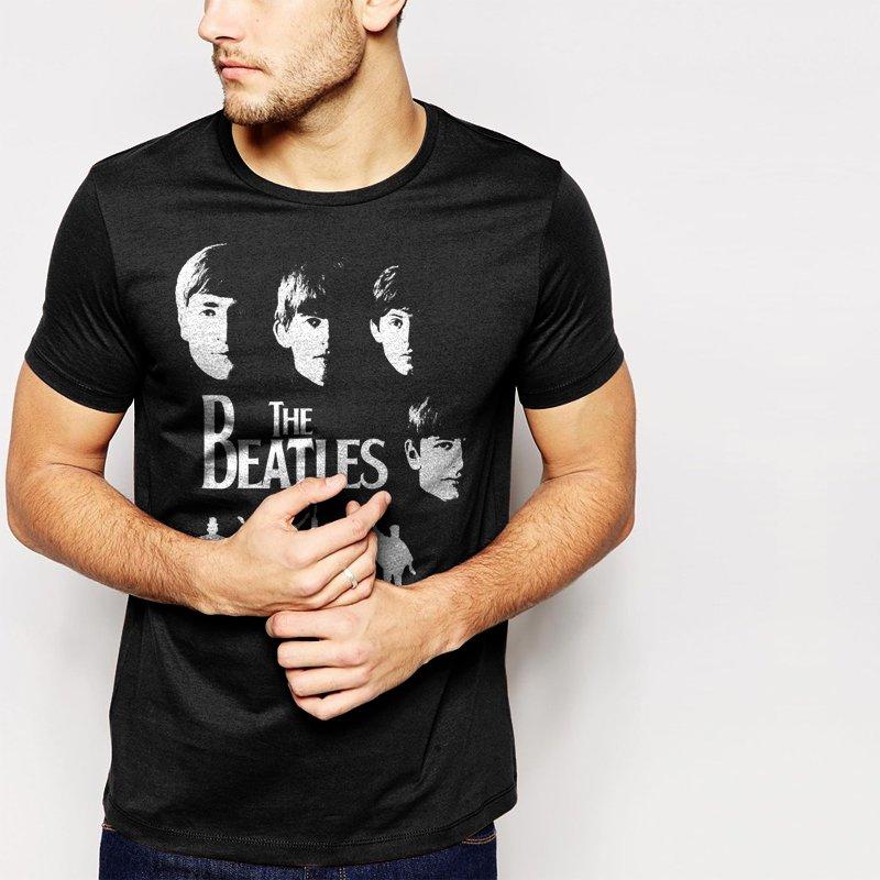 MEET THE BEATLES MEN T-SHIRT MUSIC ROCK PUNK RETRO POP
