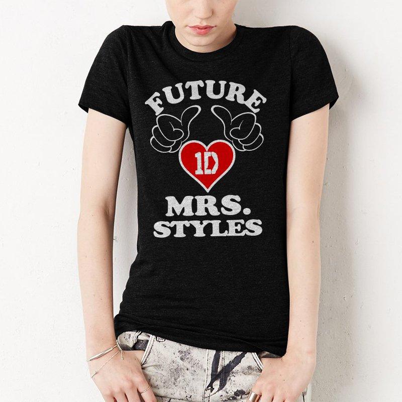 Future Mrs Styles Women T-Shirt One Direction 1D