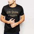 GEM SALOON Men T-Shirt deadwood swearingen western