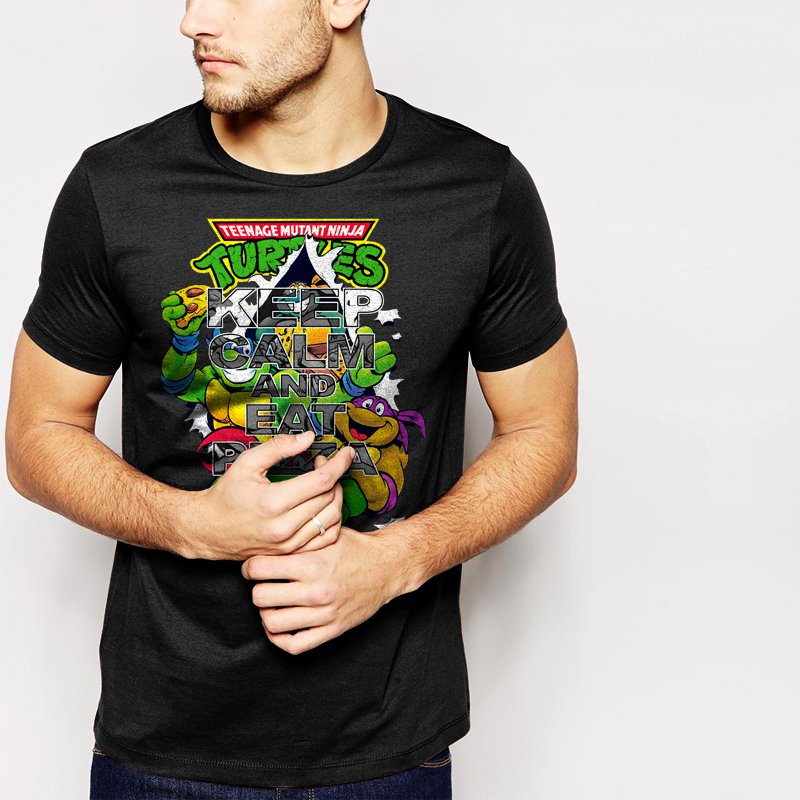 Keep Calm And Eat Pizza Men T-Shirt TMNT