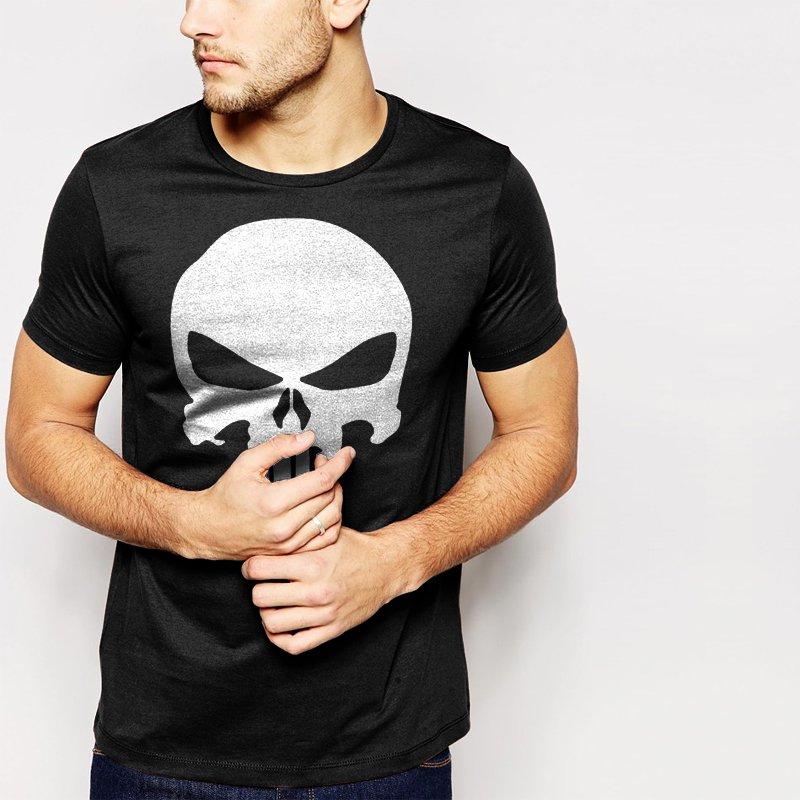 The Punisher Men T-Shirt Superhero Skull