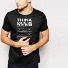 THINK OUTSIDE THE BOX Men T-Shirt unique individual tic tac toe