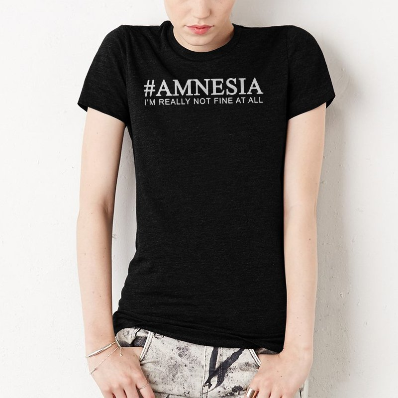 Amnesia Women T-Shirt 5 Seconds Of Summer song