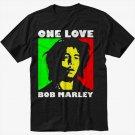 Bob Marley One Love Rasta Black T-Shirt Screen Printing