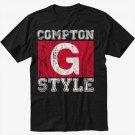 Compton G Style Gangsta Ice Cube Black T-Shirt Screen Printing
