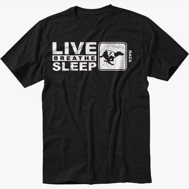 Dog Racing Gift Black T-Shirt Screen Printing