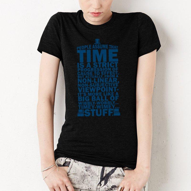DOCTOR WHO TYPOGRAPHY Women T-Shirt Doc Dr BBC Tardis
