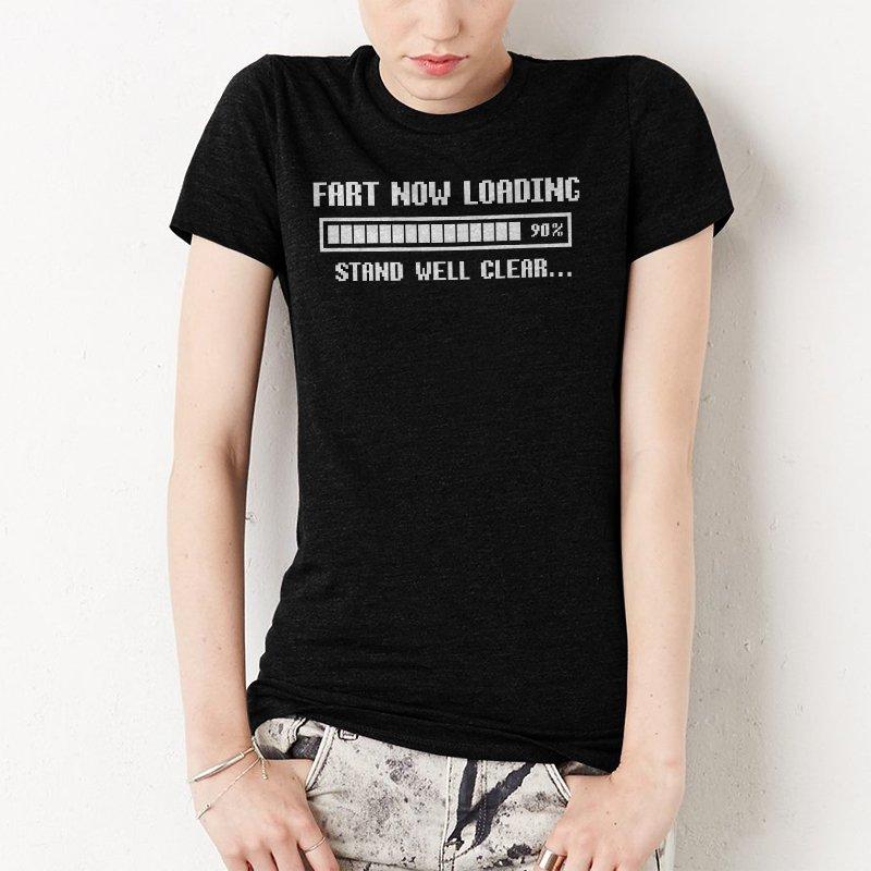 FART LOADING MENS FUNNY Women T-SHIRT retro slogan