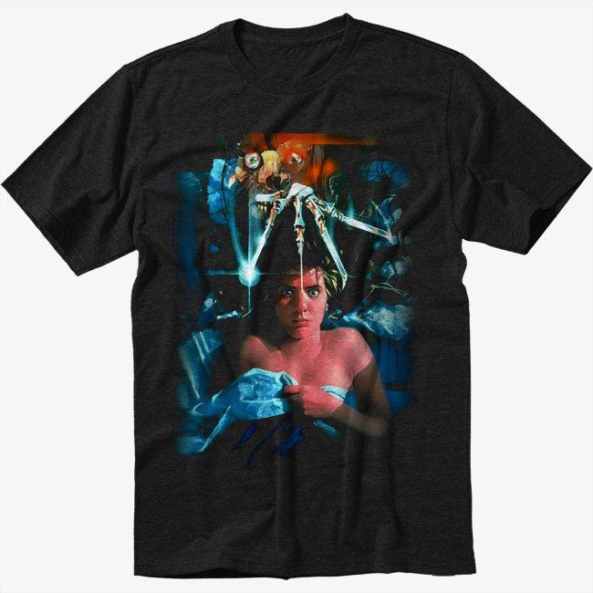 A Nightmare On Elm Street Black T-Shirt Screen Printing