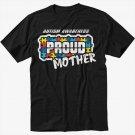 Autism Awareness - Proud Parent Teacher Mother Black T-Shirt Screen Printing