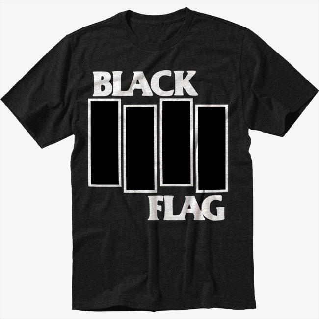 Black Flag B Black T-Shirt Screen Printing