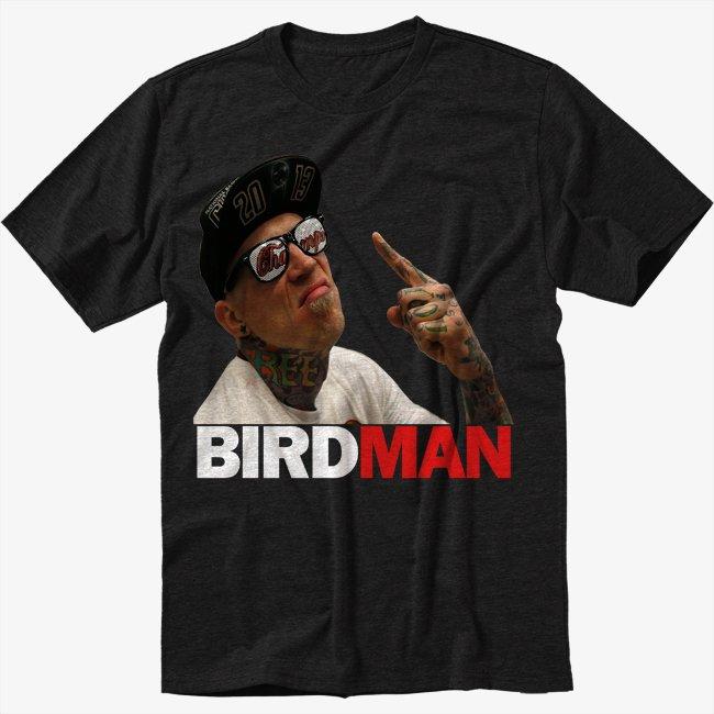 Chris Birdman Andersen FACE Black T-Shirt Screen Printing