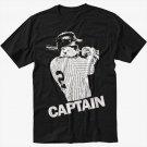 Derek Jeter New York Yankees Captain Black T-Shirt Screen Printing