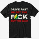 DRIVE FAST Funny JDM Soshinoya Black T-Shirt Screen Printing